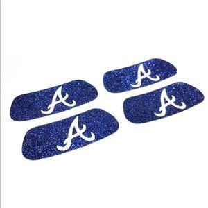 Accessories - EyeBlack Atlanta Braves MLB Glitter Strips